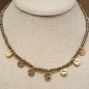 Jewelry - Disk Charm Bead Necklace